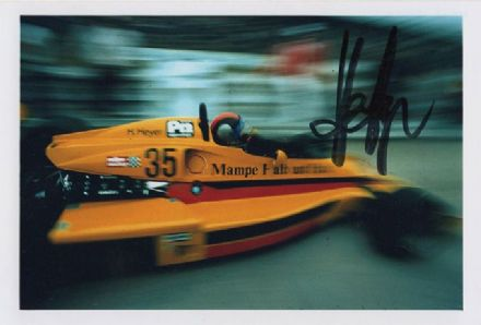 Hans Heyer, ATS, signed 6x4 inch photo.